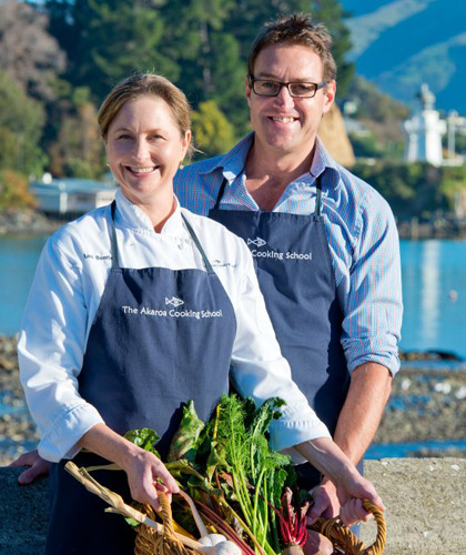 LOU AND ANT BENTLEY The Akaroa Cooking School opened in 2009 and since then have been named by Lonely Planet as one of the top 10 places in the world to learn to cook local cuisine. Ant and Lou have had thousands of guests from all over the world attend their school and recently had their first cookbook published.  Lou Bentley was brought up on a farm in rural North Canterbury, New Zealand. She studied at the NZ School of Food and Wine and after working in the restaurant and catering industries both in NZ and overseas decided that it was time to start her own venture along with husband Ant in the gorgeous seaside village of Akaroa, Banks Peninsula. Ant Bentley grew up in Auckland and spent much of his childhood on Waiheke Island where he developed a love of fresh seafood as well as cooking. Holidays were also spent on cousins farms in the Wairarapa were he developed a good understanding of the paddock to plate approach of eating.