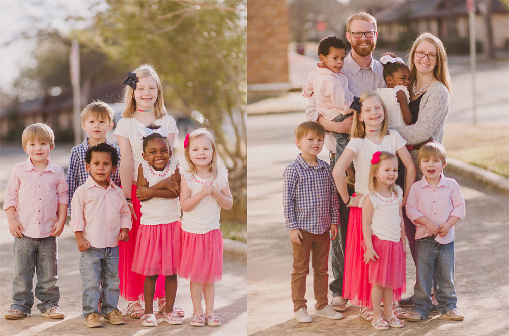 Josh and Casey Holly with their children: Rylie, Mason, Samuel, Monique, Tessa, and Melvin