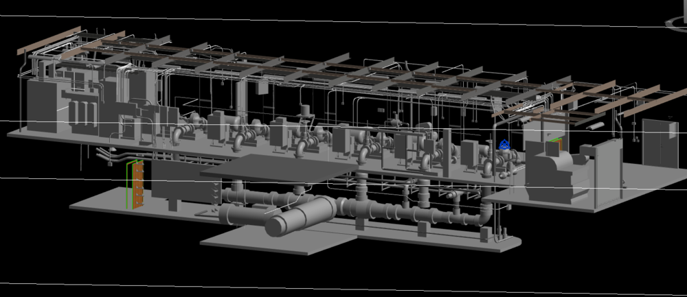 MEP 3D Model and 3D Point Cloud Modeling