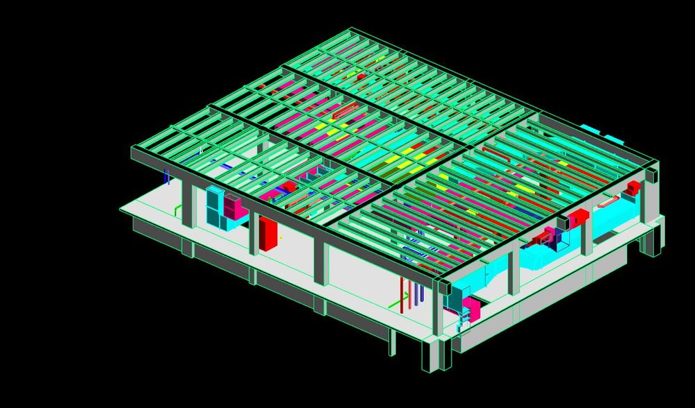 3D Model of MEP Environment  LOD: 350  Structural & Architectural Features