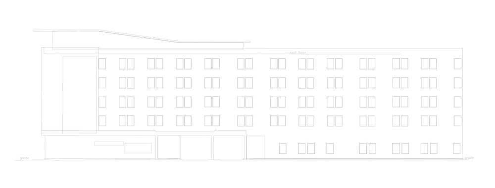 2D Drawing Of A 3D Mode from point cloud data - Existing Conditions For Hotel Exterior Redesign