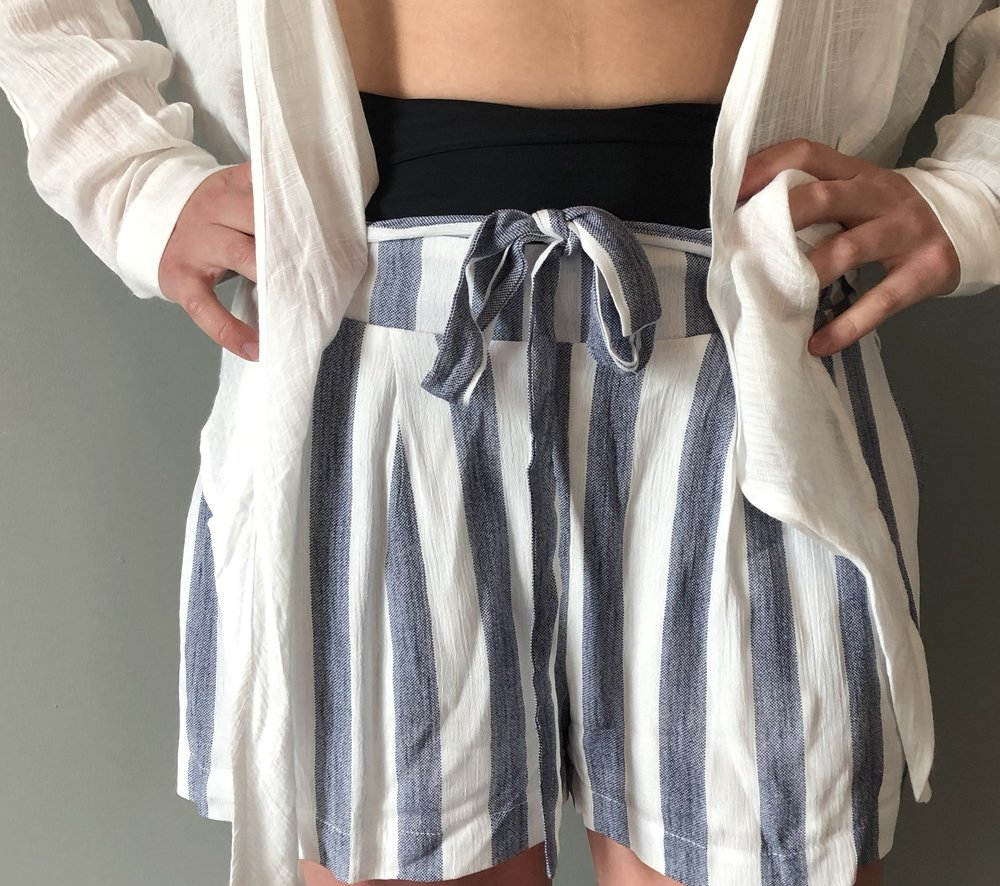 Boutique Summer Fashion Blue and White Shorts.jpg