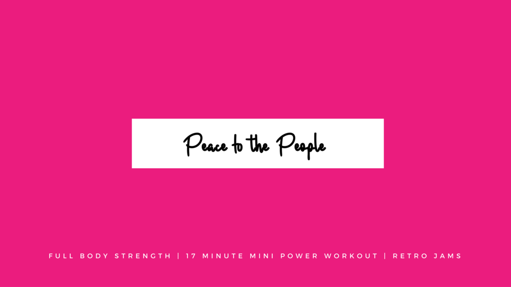 Full Body Strength | Mini Power Workout | Retro Jams | Columbus, Ohio