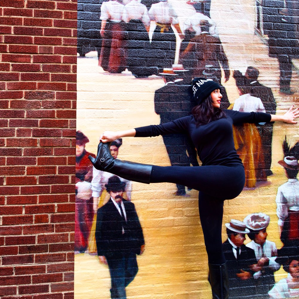 Columbus, Ohio Mural, Short North Arts District, Balance, Yoga, Asana, Yoga Pose, Yoga Inspiration