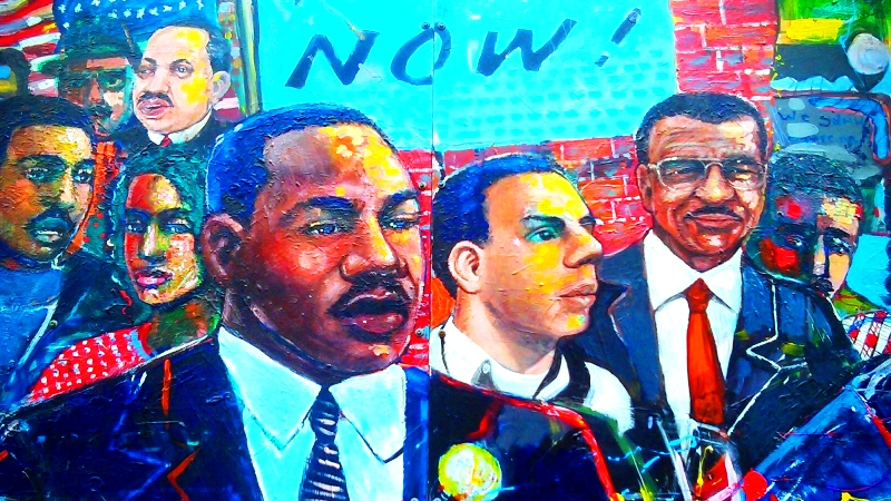 Martin Luther King, Jr. Museum Mural in Atlanta, Georgia | Peace to the People
