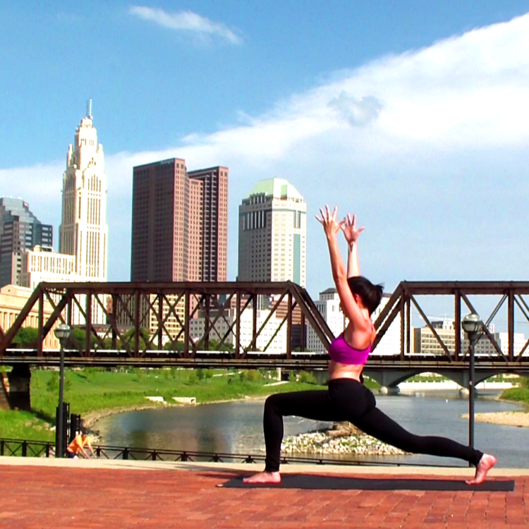 Columbus, Ohio Warrior Pose, Yoga Inspiration, Yoga Classes, Online Fitness Classes, City Workout