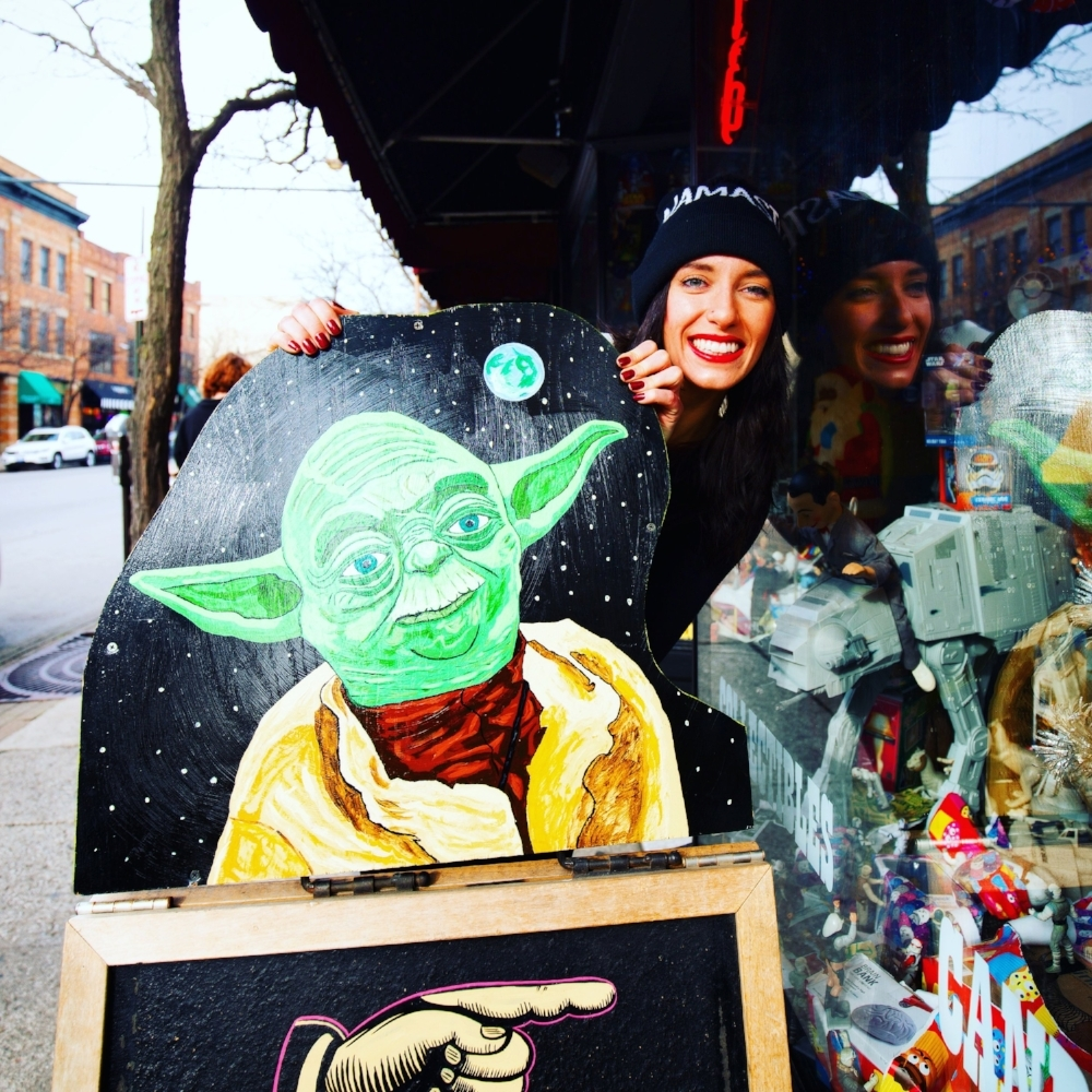 Short North Arts District | Yoda, Star Wars, Spiritual Gangster
