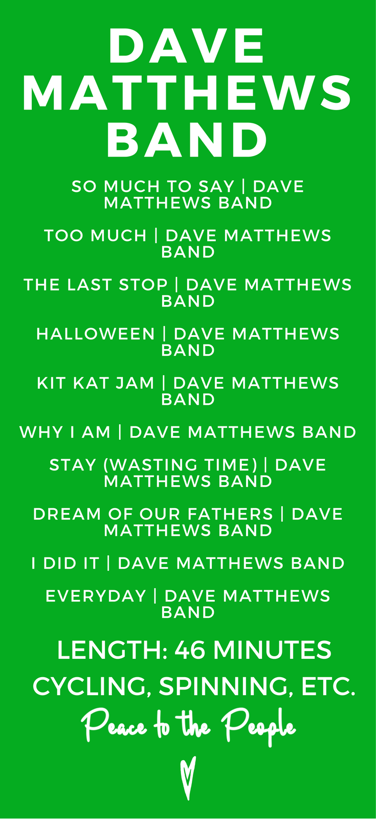 Dave Matthews Band Rock Strength Fitness Cycling Spinning Running Playlist Music