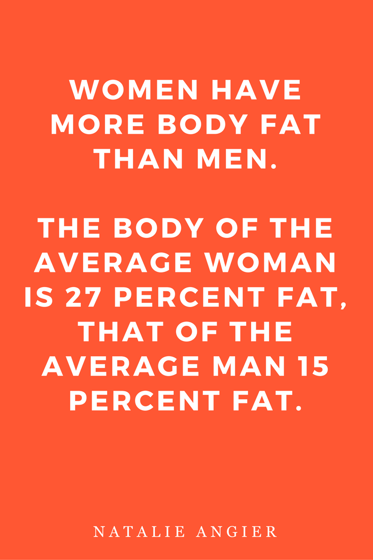 Woman by Natalie Angier Books, Quotes, Inspiration Body Fat
