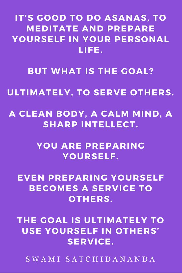 The Key to Peace by Swami Satchidananda Quotes, Inspiration, Asana