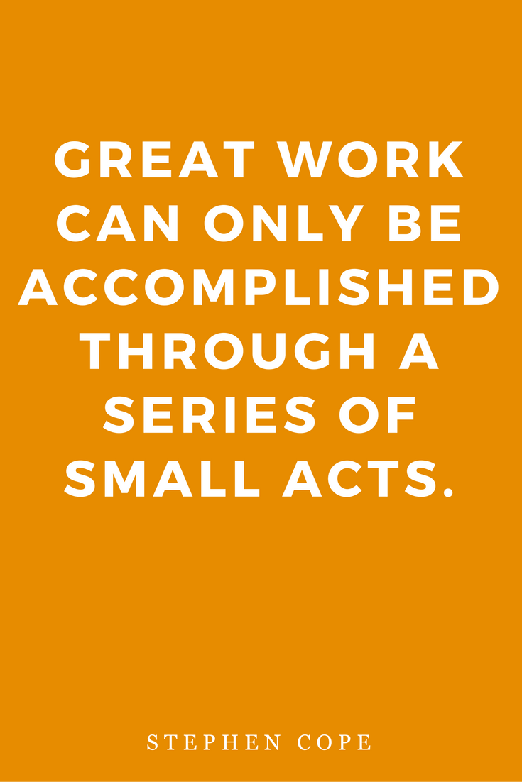 The Great Work Of Your Life by Stephen Cope, Inspiration, Books, Quotes, Vocation, Small Acts
