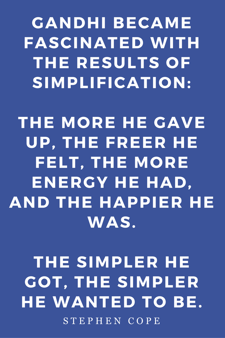 The Great Work Of Your Life by Stephen Cope, Inspiration, Books, Quotes, Gandhi Simplification
