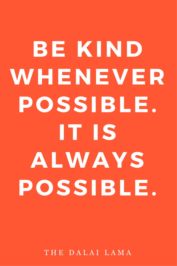 Mantras Inspiration Motivation Be Kind Dalai Lama