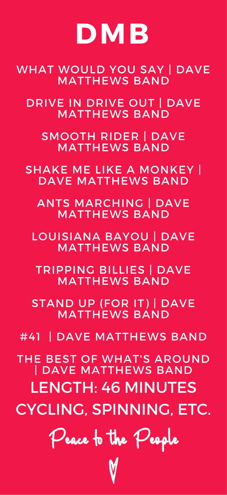 Dave Matthews Band Spinning Playlists Peace to the People