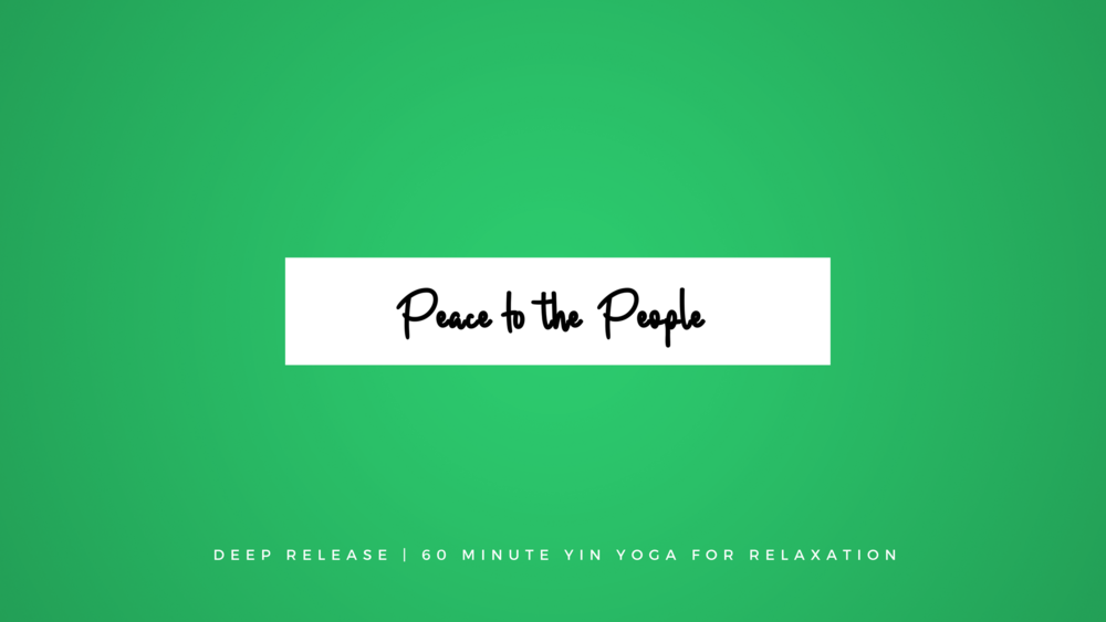 Deep Release Yin Yoga for Relaxation