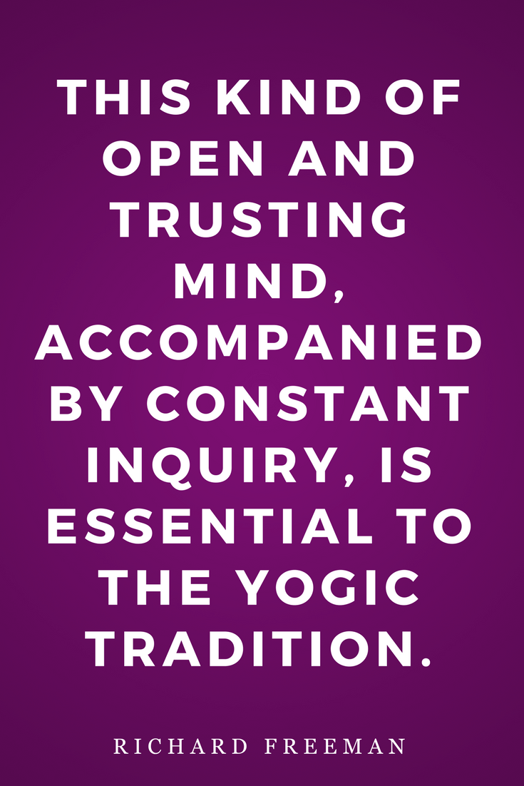 The Mirror of Yoga by Richard Freeman, Life, Inspiration, Quotes, Yogic Tradition
