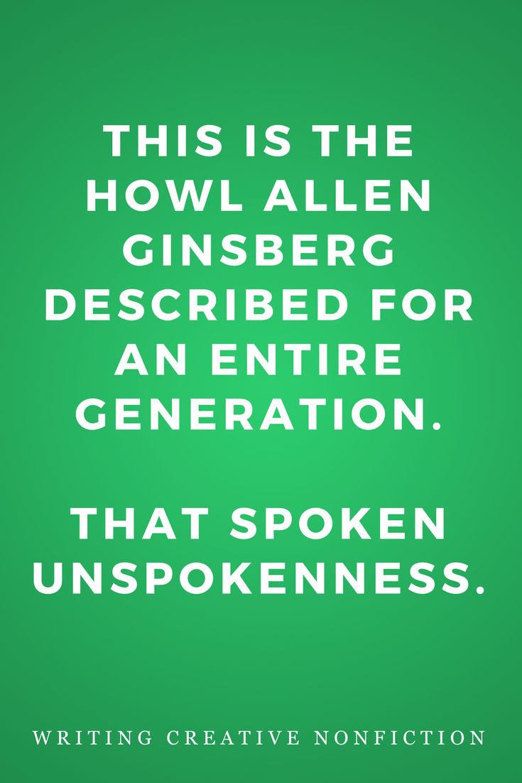 Writing Creative Nonfiction, Writers, Inspiration, Quotes, Books, Allen Ginsberg Howl