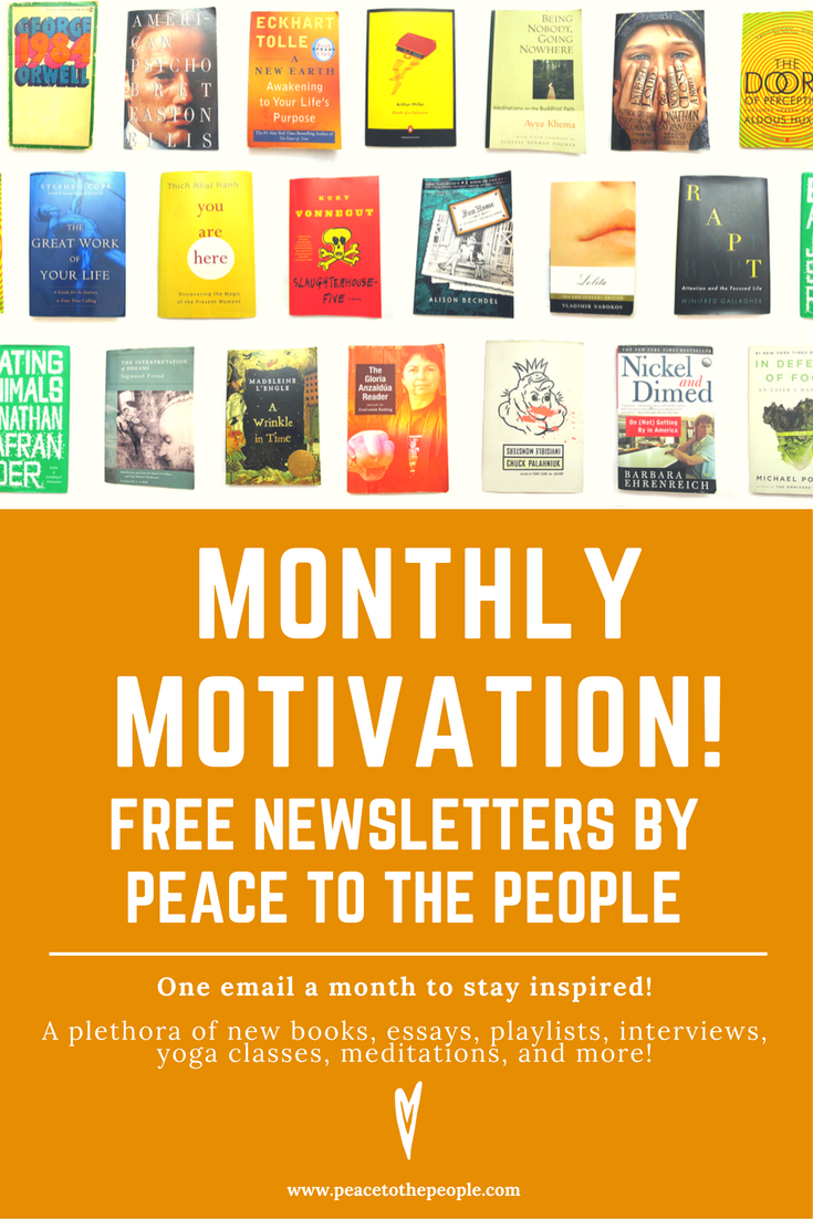 A dose of fresh books, essays, playlists, interviews, yoga classes, meditation courses and more!
