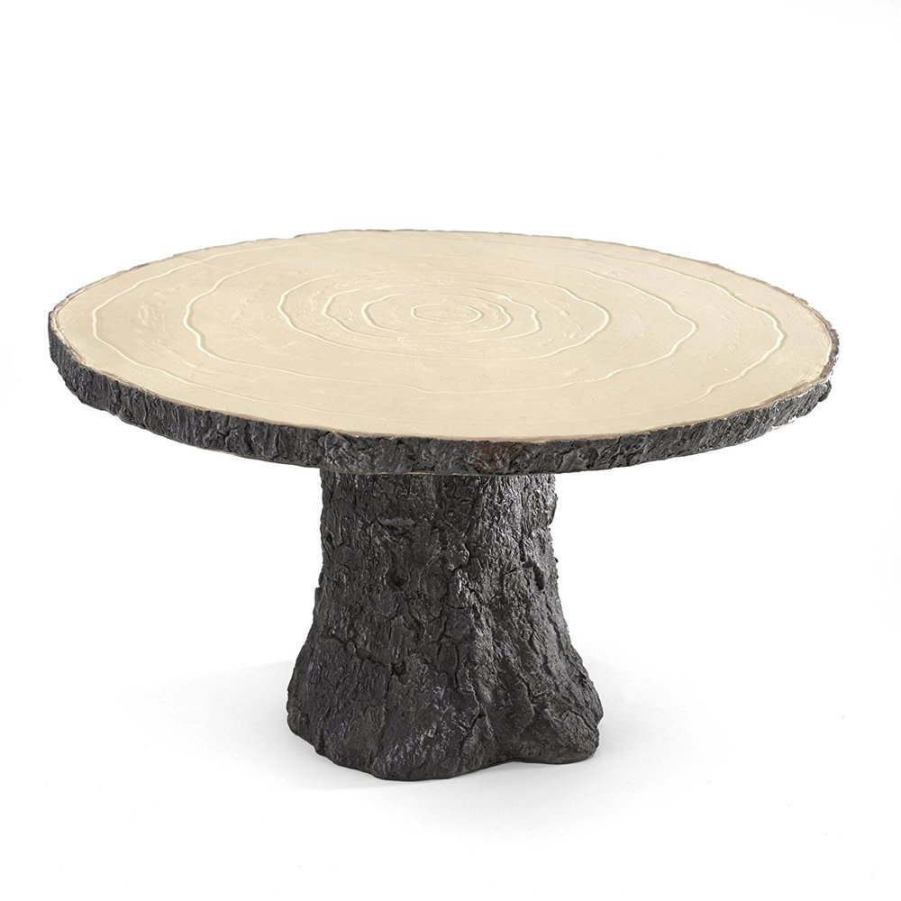 Hortense B. Hewitt Rustic Log Cake Stand Wedding Accessories.jpg
