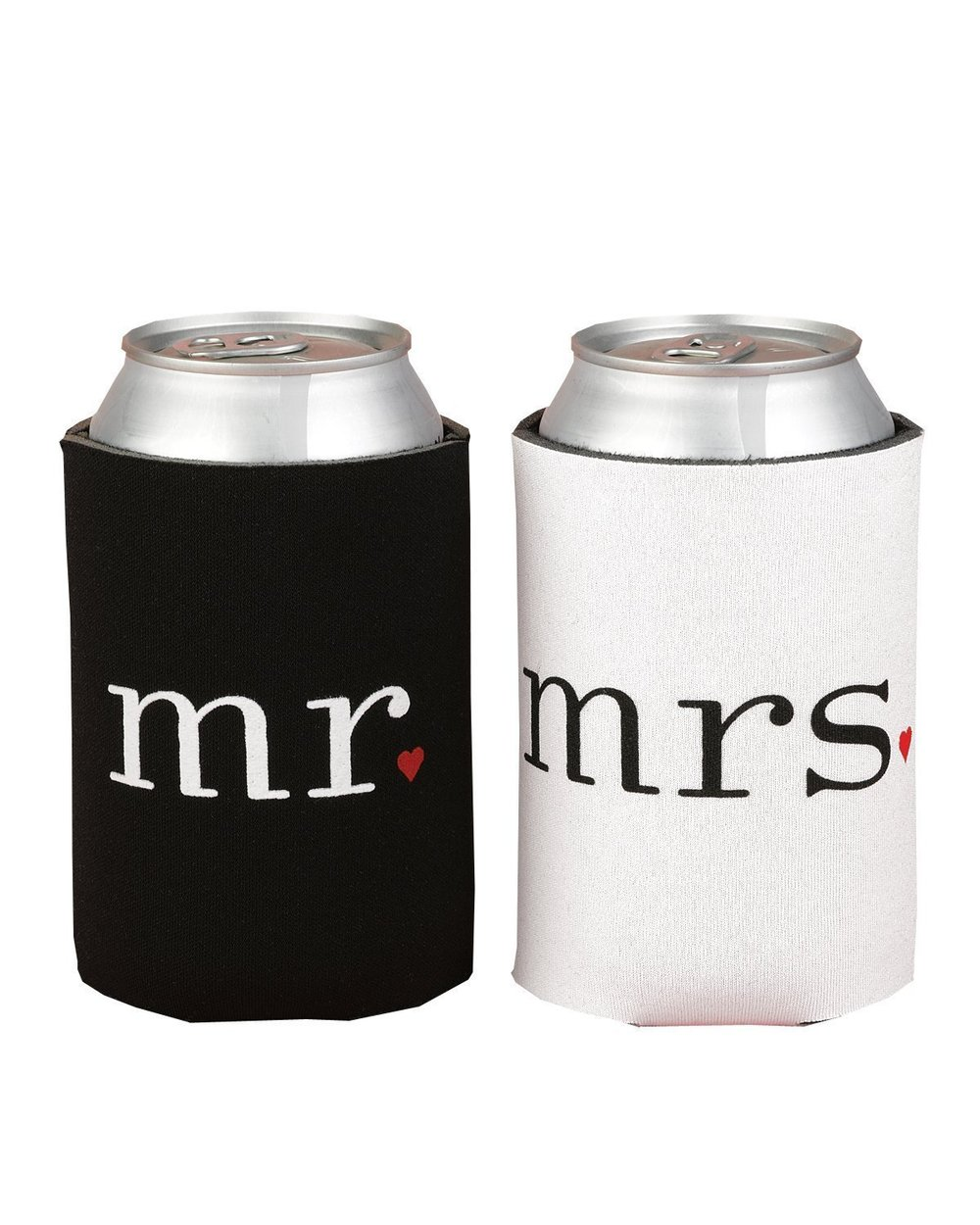 Spring Rose(TM) Wedding Accessories Mr. and Mrs. Can Coolers Gift Set. These Are The Perfect Present For Newlyweds Or For An Anniversary Couple..jpg