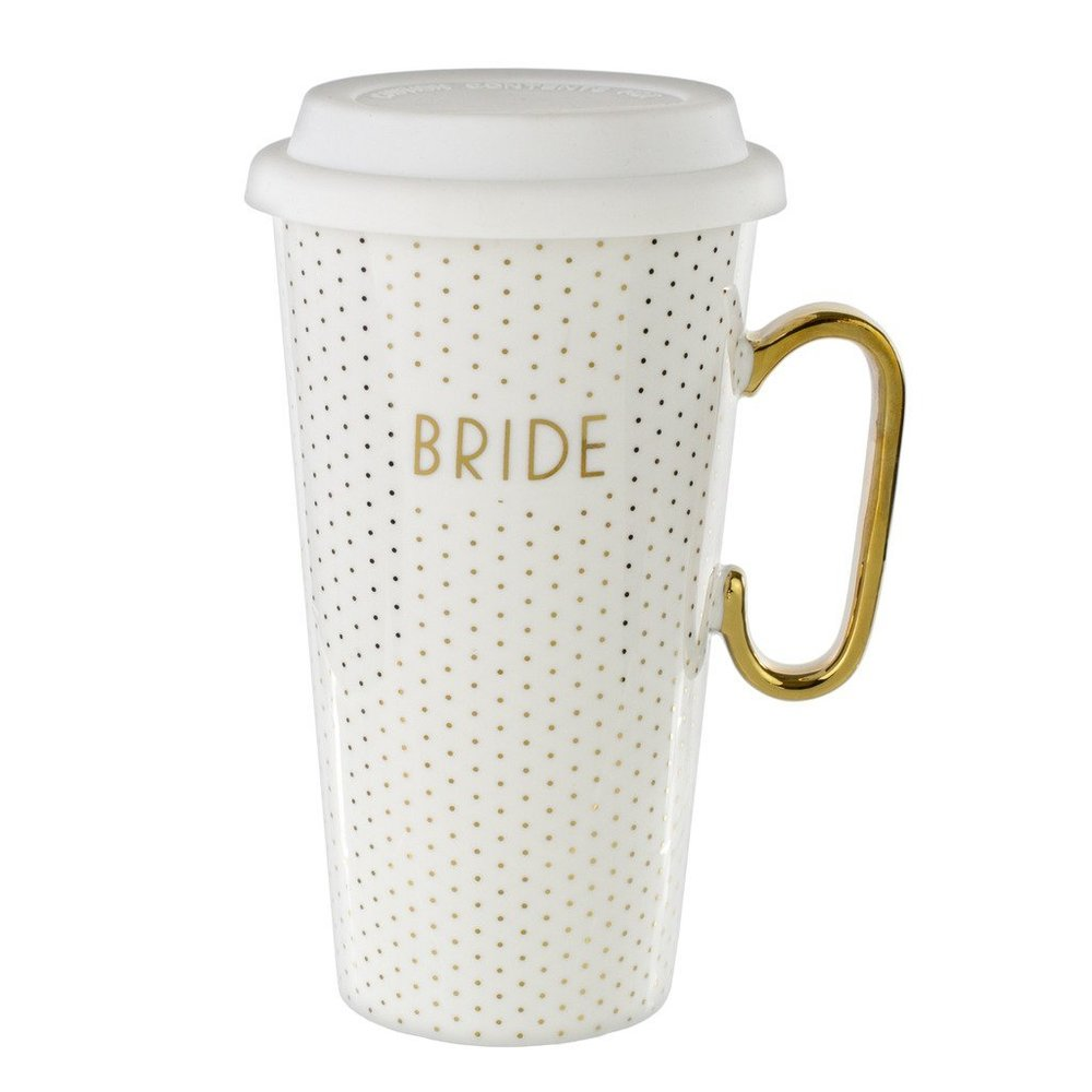 Tri-Coastal Design Coffee Mugs in Various Designs (Mug for the Bride - White Gold Travel Mug).jpg