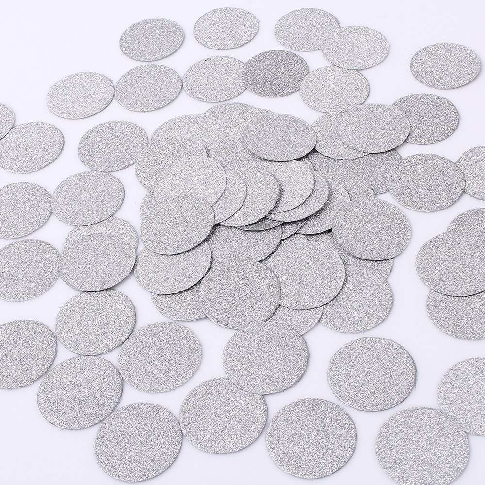 MOWO Glitter Paper Confetti Wedding Party Decor and Table Decor 1.2'' in Diameter (silver glitter,200pc).jpg