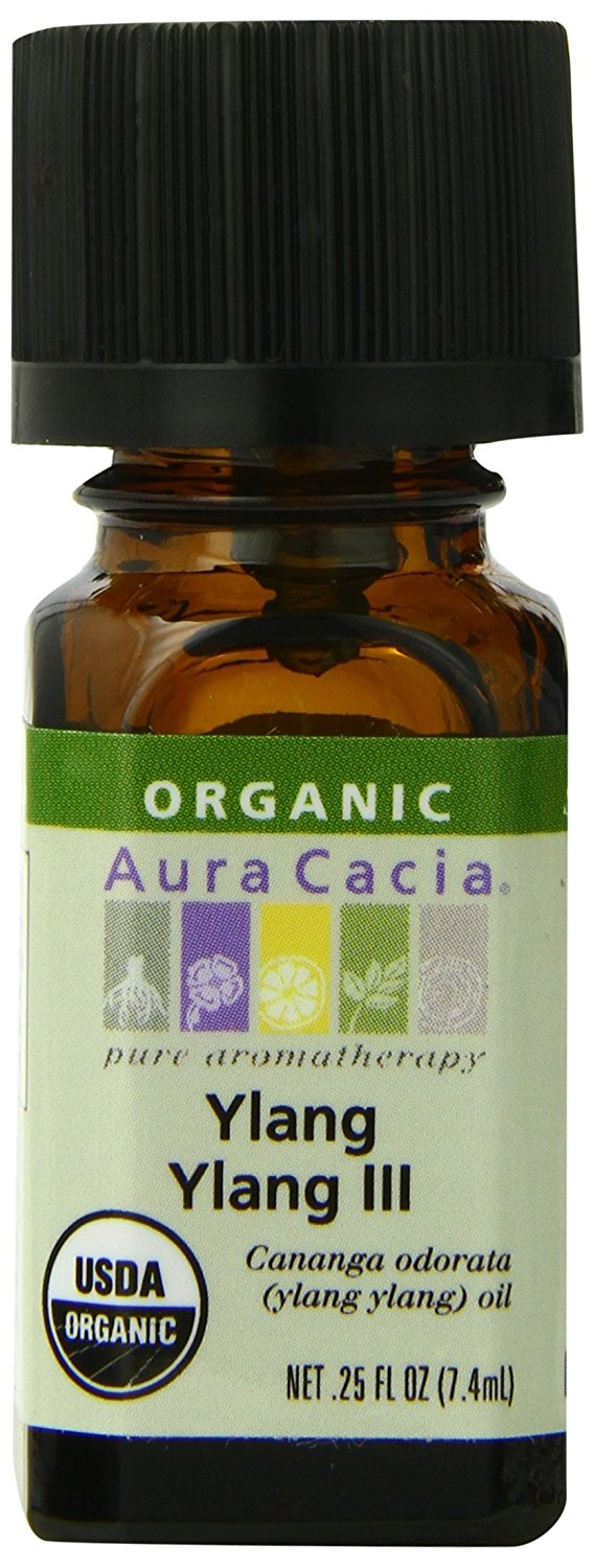 Aura Cacia Organic Essential Oil, Ylang Ylang, 0.25 Fluid Ounce.jpg