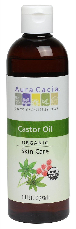Aura Cacia Skin Care Oil - Organic Castor Oil - 16 Fl Oz, 16 Fluid Ounce.jpg