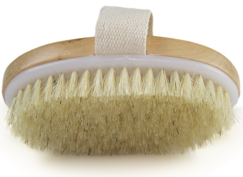 Dry Skin Body Brush Skin Health And Beauty - Natural Bristle - Remove Dead Skin And Toxins, Cellulite Treatment , Improves Lymphatic Functions, Exfoliates, Stimulates Blood Circulation.jpg