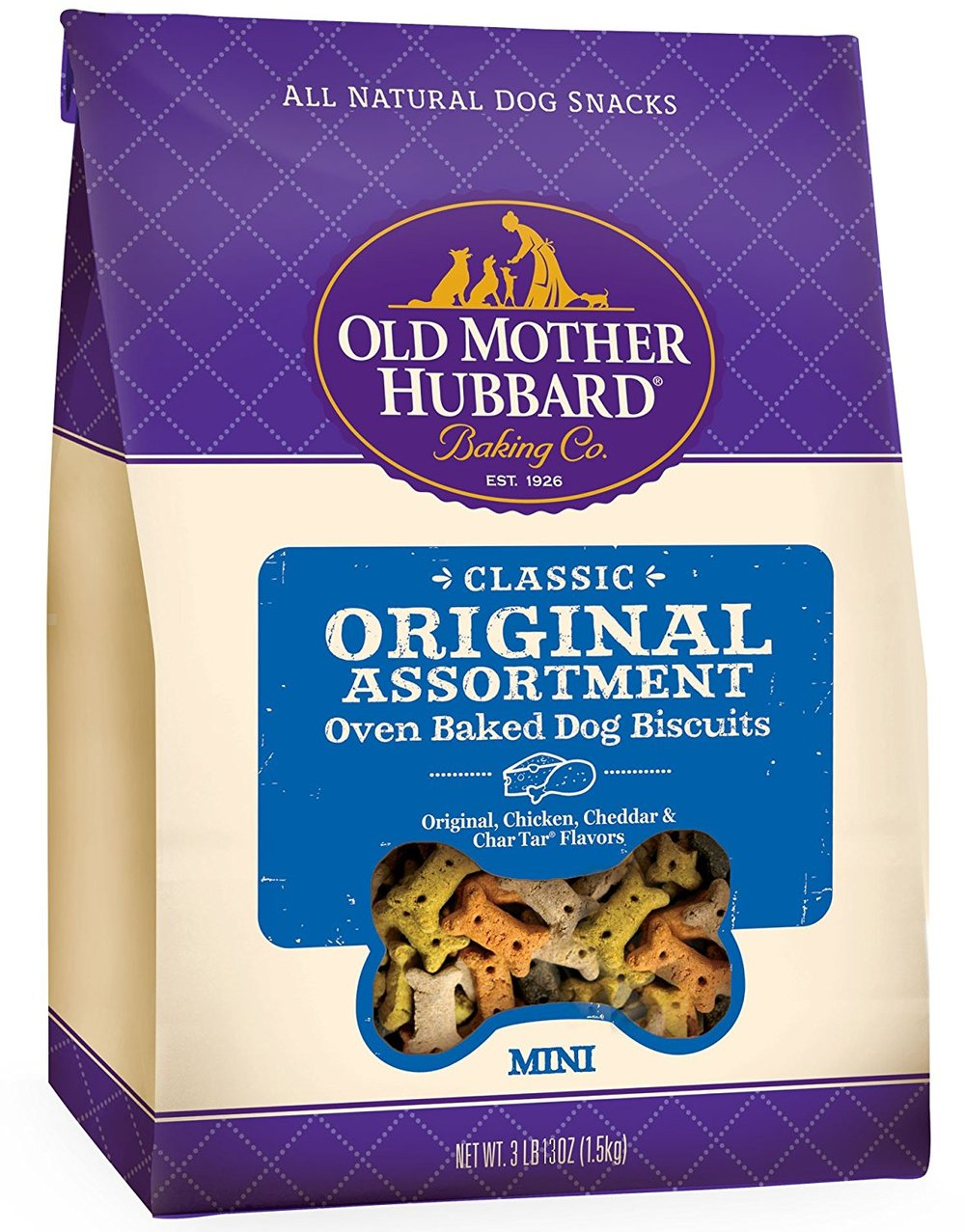 Old Mother Hubbard Classic Crunchy Natural Dog Treats, Original Assortment Mini Biscuits, 3.8-Pound Bag.jpg
