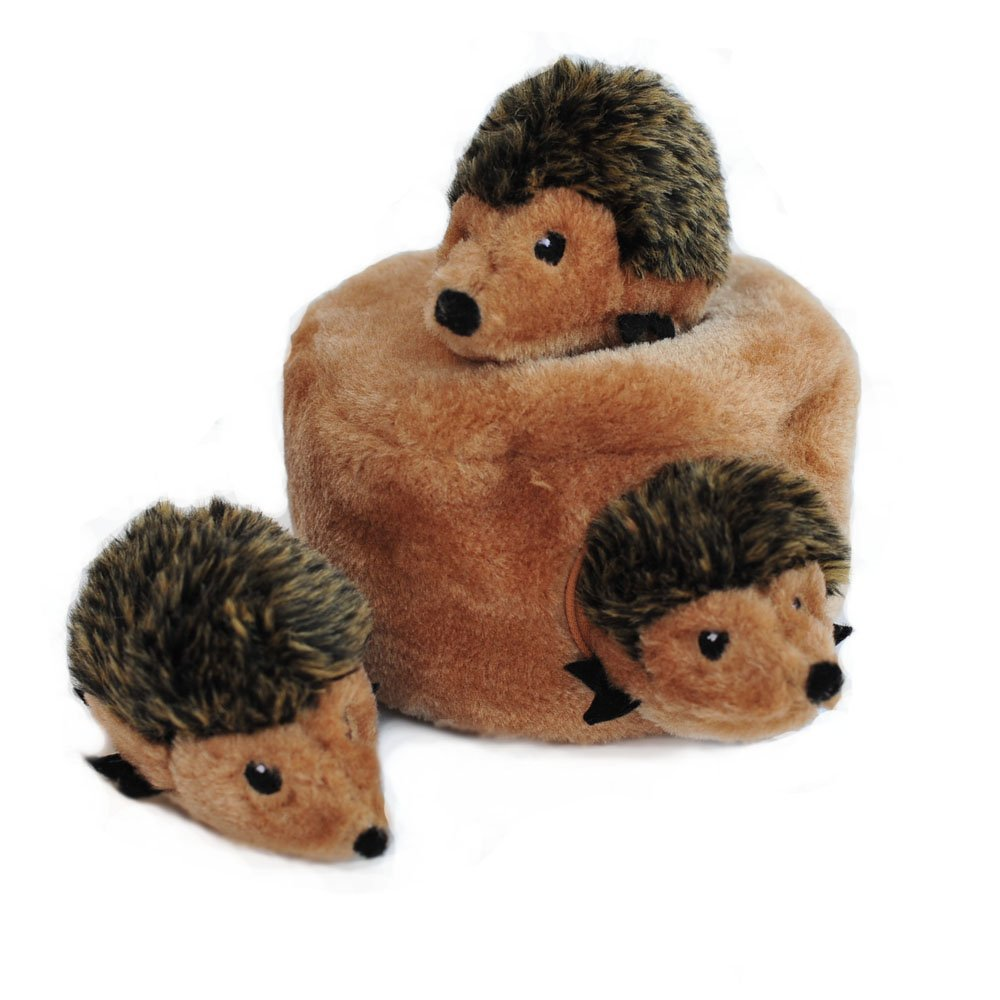 ZippyPaws Burrow Squeaky Hide and Seek Plush Dog Toy, Hedgehog Den.jpg