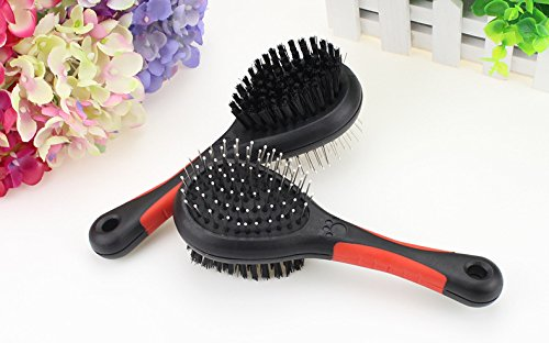 Fast and Good Professional Double Sided Pin & Bristle Combo Brush for Dogs & Cats, Grooming Comb for Cleaning Shedding & Dirt Short Medium or Long Hair + Durable Slider Storage Bag.jpg