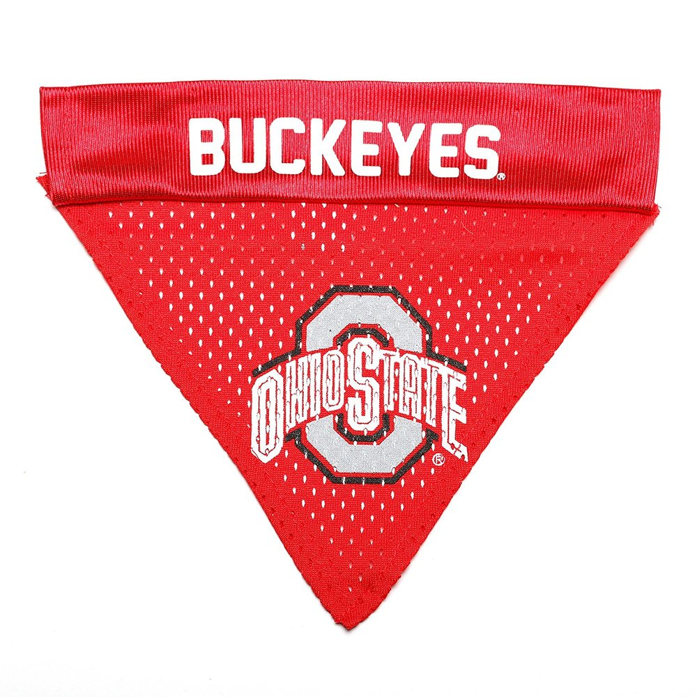 Pet Goods NCAA Ohio State Buckeyes Collar Bandana, One Size.jpg