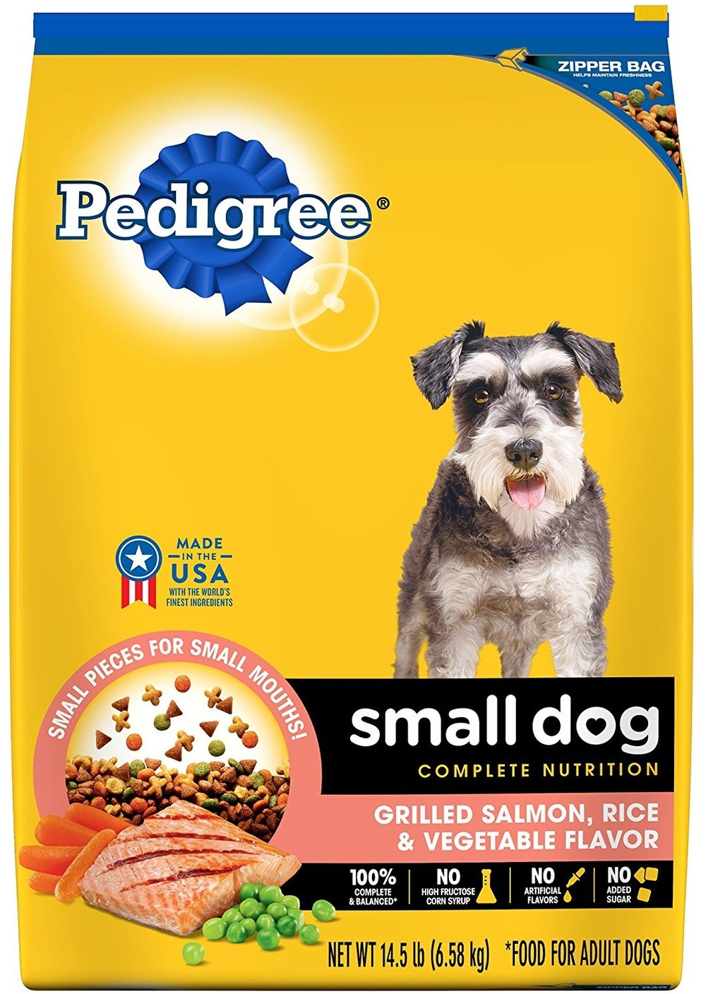 PEDIGREE Small Dog Adult Complete Nutrition Grilled Salmon, Rice and Vegetable Flavor Dog Food 14.5 Pounds.jpg