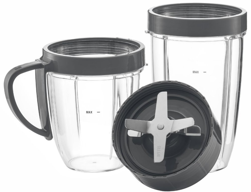 Cup and Blade 5 Pc Set for NutriBullet Replacement High Speed Blender Mixer System.jpg