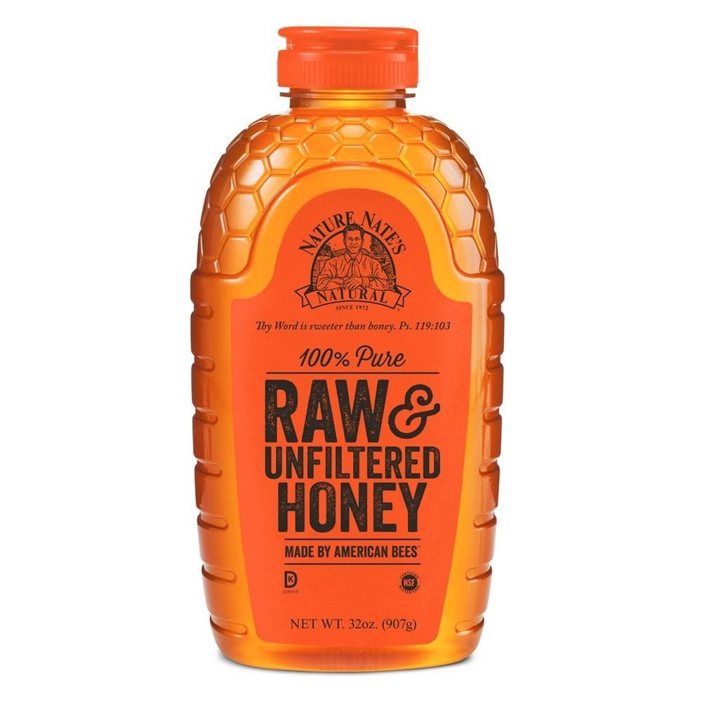 Nature Nate's, 32 Ounce, 100% Pure, Raw and Unfiltered Honey.jpg