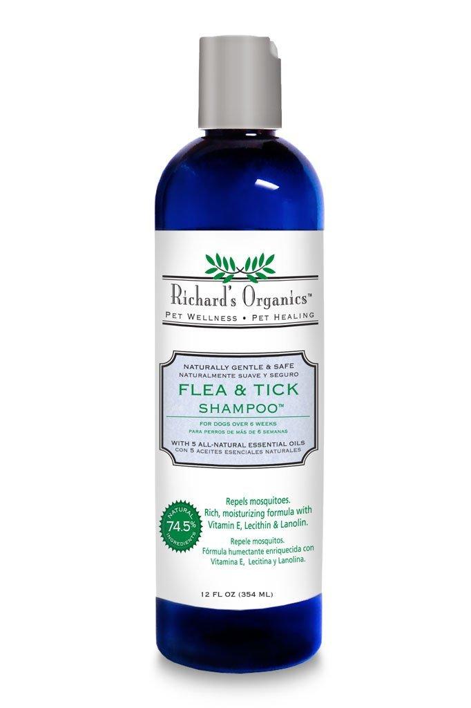 SynergyLabs Richard's Organics Flea & Tick Shampoo; 12 fl. oz..jpg
