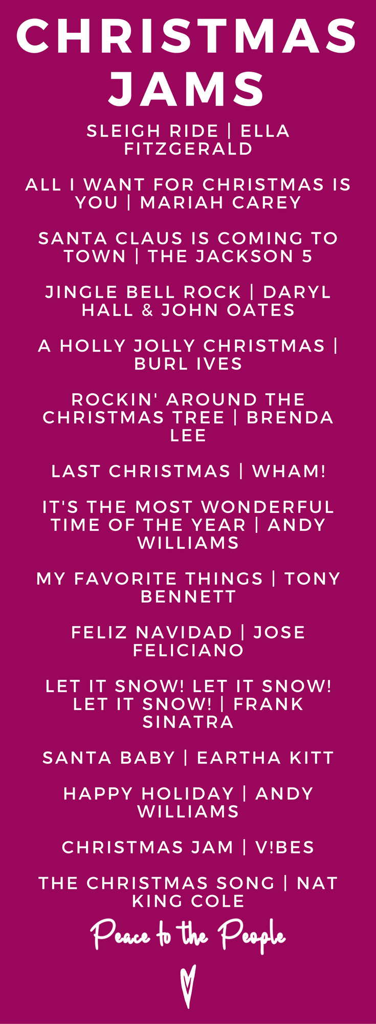 Christmas Jams Songs Playlists Music Happy Holidays Peace to the People.png