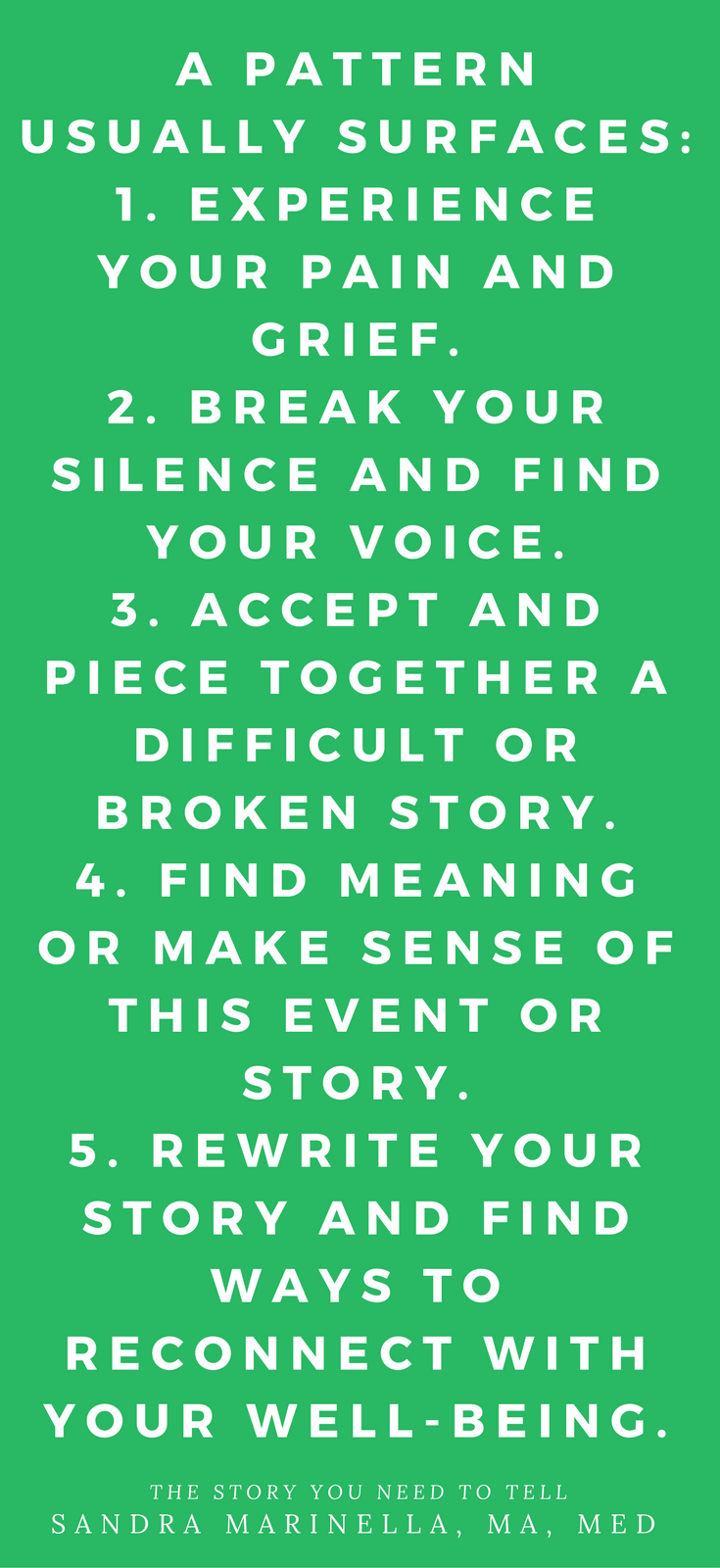 The Story You Need to Tell by Sandra Marinella