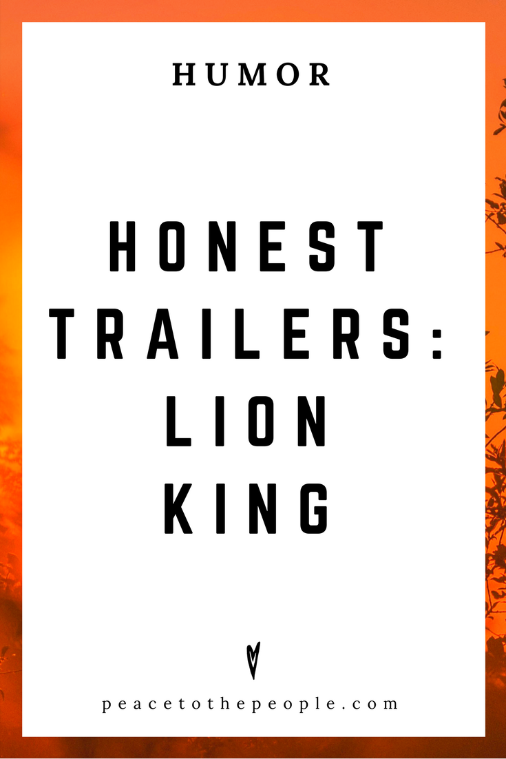 Honest Trailers • Lion King • Movies, Culture, Hilarious •  LOL • Funny Videos  • Peace to the People