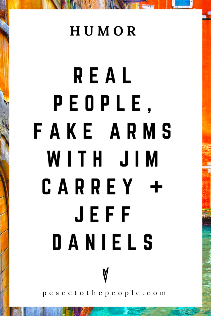 The Tonight Show • Real People, Fake Arms with Jim Carrey, Jeff Daniels + Jimmy Fallon • Comedy • Culture • Hilarious •  LOL • Funny Videos  • Peace to the People