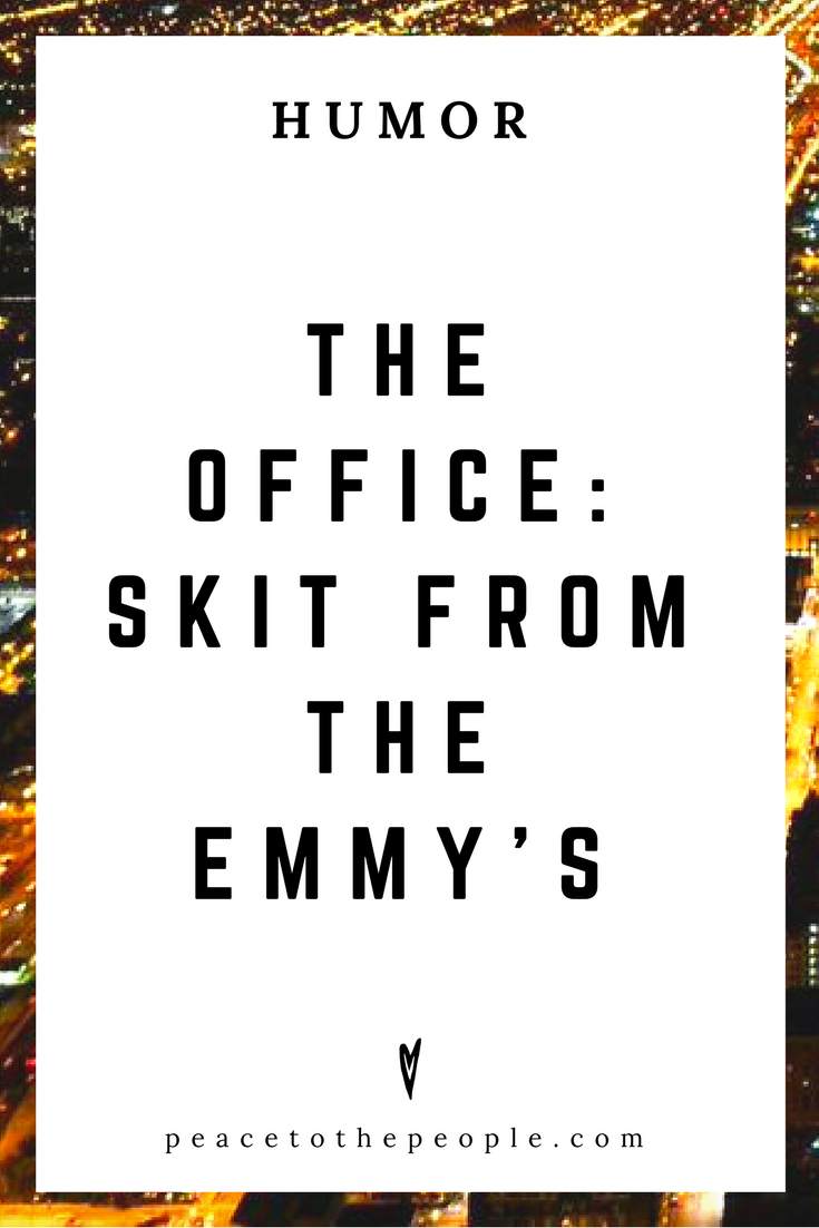 The Office • Skit from the Emmy's • Comedy • Culture • Hilarious •  LOL • Funny Videos  • Peace to the People