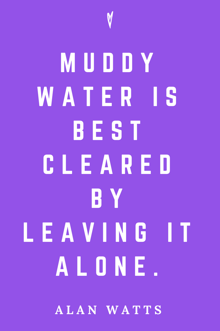 Alan Watts • Top 25 Quotes • Peace to the People • Zen • Mindfulness • Present Moment Awareness • Philosophy • Wisdom • Inspiration • Muddy Water.png