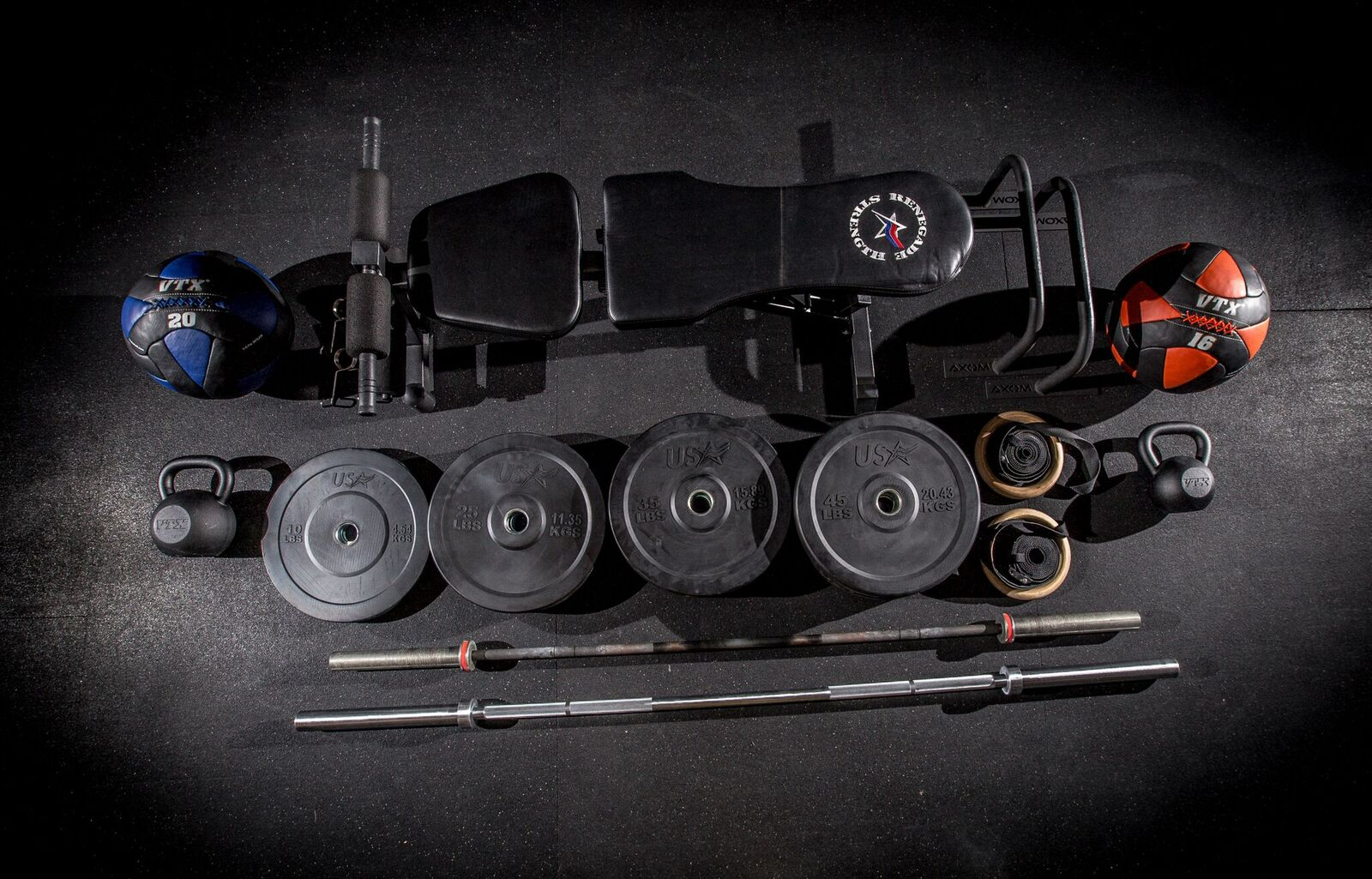 Level his and her garage gym package u axom performance
