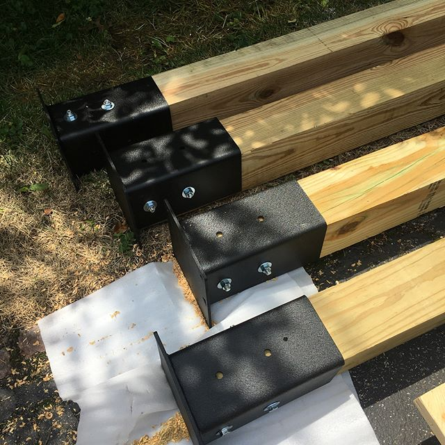 Our new outdoor rig concept is going to be a game changer. A very affordable option with no compromises over a traditional rig. A big thanks and congrats to @mdettmann01 for being our first DIY customer to build a free standing setup. Taking pre orders now - sales@axomperformance.com #axom #axomperformance #woodworking #stilllovesteel #crossfit #crossfitrig #crossfitter #outdoorrig #ninjawarrior #ninjawarriortraining #lowes #homedepot #thanksforbeingourguineapigmatt