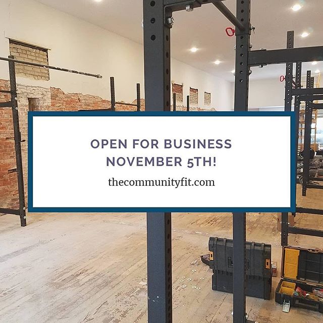 We are proud to be the choice equipment provider for @thecommunityfit ... opening next week in downtown Bentonville , AR! Check them out at www.thecommunityfit.com #axom #axomperformance #crossfit #community #fitness #fitfam #downtownbentonville #brickwall