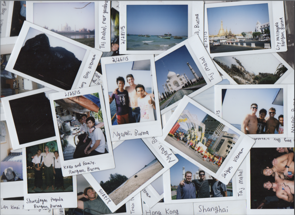 A montage of polaroid photos from my travels.