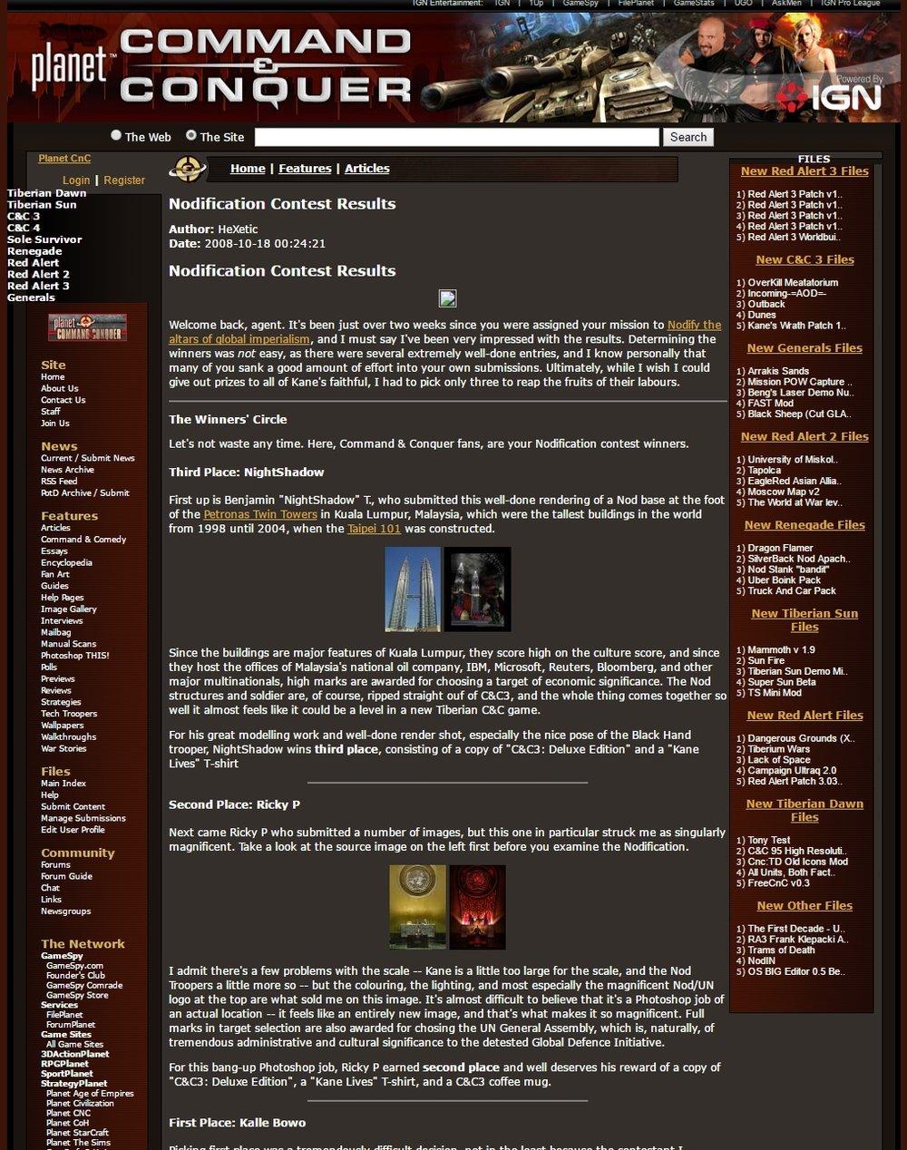 Screenshot taken using the Internet Archive: Wayback Machine