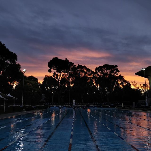Friday night sky as captured by our coach Ben Q @activemonash #tateswim #outdoors #swimming #pool
