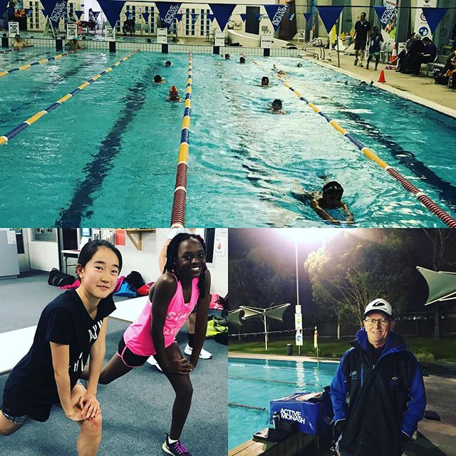 Our team working hard tonight #swimmingthrough #tateswim #activemonash